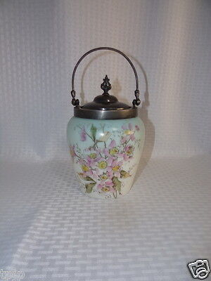 Early 1900's Victorian Porcelain Large Biscuit/Cookie Jar