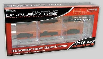 SIX VEHICLE 1/64 Diecast Display Case - Greenlight Collectibles #55012 NEW NICE