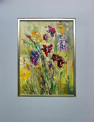 S.Tandori Poppies Mouted Oil painting