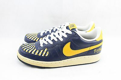 Nike Legend Mid Navy/pro Gold-White 310130-471 Dead Stock & Yellowing Shoes