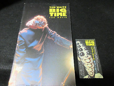 Tom Waits Big Time The Movie Japan Film Program Book with Ticket Stub Ribot