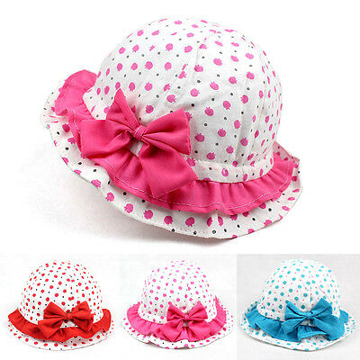 Toddler Girl Baby Kids Bucket Hat Summer Cap Beach Sun Outdoor Bonnet Beanie US