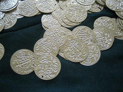 100//200 Silver//Gold Real Brass Coins Belly Dance Hip Scarf Belt Costume Beads