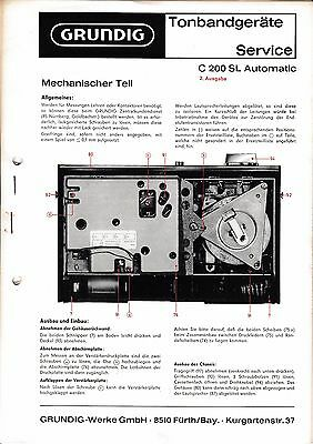 Service Manual for Grundig C 200 SL Automatic