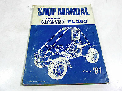 Shop Manual Honda Fl 250 Odyssey 1981 6295002