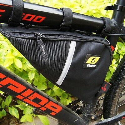 Bicycle Triangle Bags Front Frame Saddle Cycling Bike Tube Pannier Phone Pouch