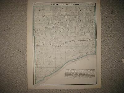 Antique 1873 Timber Township Lancaster Glassford Peoria County Illinois Map Nr