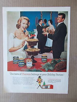 Planters Holiday Party Packs 1960 Vintage Magazine Ad  Inv#242