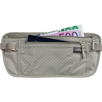 Lewis N. Clark Deluxe Waist Stash - Gray Travel Wallet NEW
