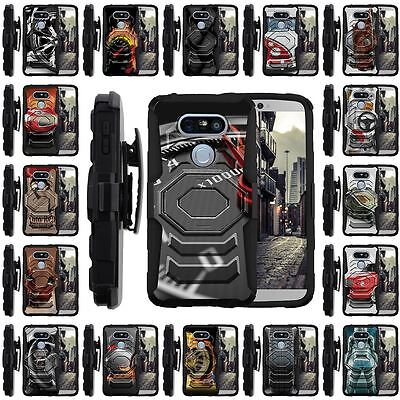 For LG G5 Cover | Clip + Holster + Case Combo Kickstand Racing Car