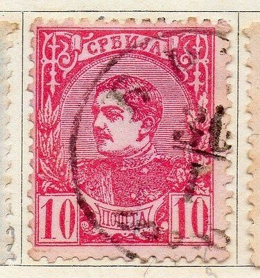 Serbia 1881 Early Issue Fine Used 10pa. 054905