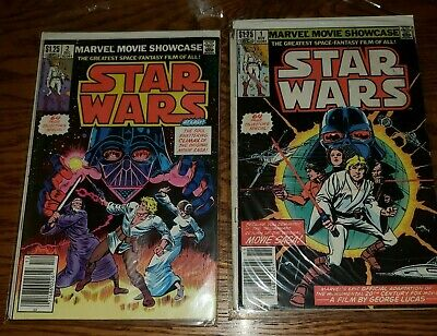 MARVEL MOVIE SHOWDOWN  STAR WARS #1 and #2 COMICS REPRINTS 1-6 1982 A NEW HOPE
