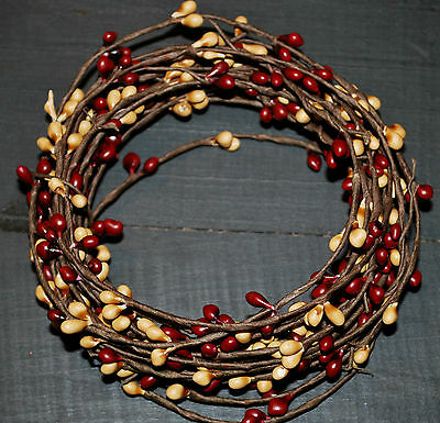 18ft Pip Berry Single Ply Roping Garland -- -- BURGUNDY &  GOLD