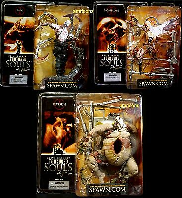 McFarlane Toys Clive Barker Tortured Souls Series 2 3 Action Figure Set New 2002
