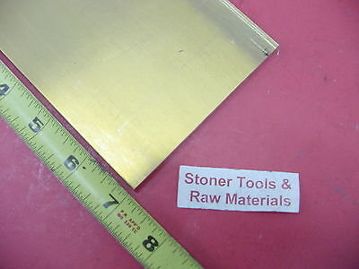 "1/4"" x 4"" C360 BRASS FLAT BAR 7"" long Solid .250"" Mill Stock H02"