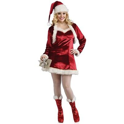 Mrs Claus Costume Adult Plus Size Sexy Santa Outfit Christmas Fancy Dress
