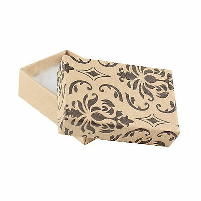 5 DAMASK JEWELLERY / GIFT CARD BOXES 45 x 30 x 15mm  WITH WADDING
