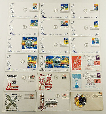 Lot of (18) 1972 1973 1981 US First Day of Issue Space Stamp Covers ^ Apollo