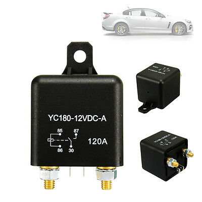 12V 120A 4 Pin Car Auto Split Charge ON/OFF Relay Switch 4 Terminals 120Amp