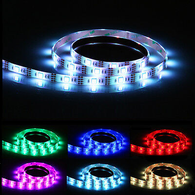 0 5m 1m rgb led strip usb lichterkette lichter leiste. Black Bedroom Furniture Sets. Home Design Ideas