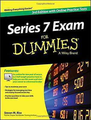 Series 7 Exam For Dummies, with Online Practice Tests - Paperback NEW Steven M.