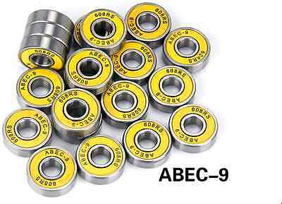 8PCS Stainless Steel Inline Skate Skateboard Bearings fit für ABEC-9 608RS