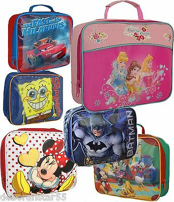Kids Boys Girls Official Disney Cartoon Character Insulated Lunch Sandwich Bag