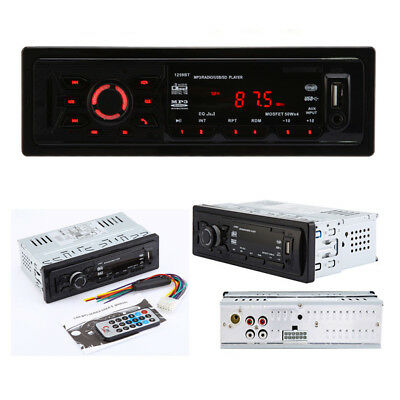 Bluetooth Single DIN Car Audio Stereo MP3  Player USB SD WMA FM Radio AUX Input