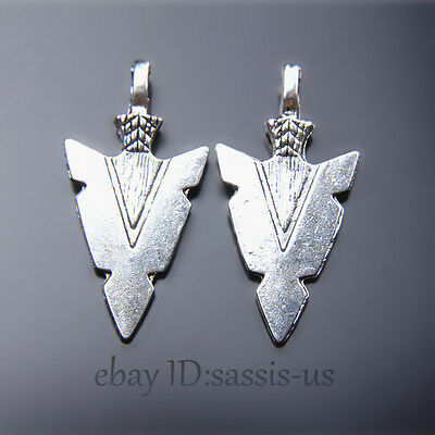 20 pieces 31mm Arrow Lover Pendant Charms Tibetan Silver DIY Jewelry A7455