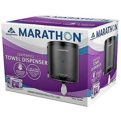 New Center Pull Commercial Towel Dispenser Marathon Smoke 300 Sheets Capacity