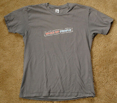 DIET PEPSI MAX Wake Up People gray t shirt size M