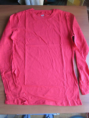 216c5805 NEW Soffe Juniors Long Sleeve Lightweight Combed Cotton Tissue Tee LARGE RED