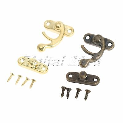 12x Hasp Latch Hook for Furniture Bag Decorative Wine Wooden Box Accessories Kit