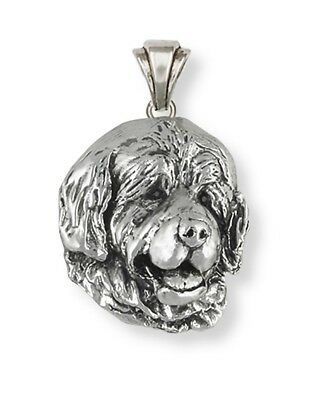 Handmade Newfoundland Dog Pendant Jewelry Sterling Silver   HM-NU2-P