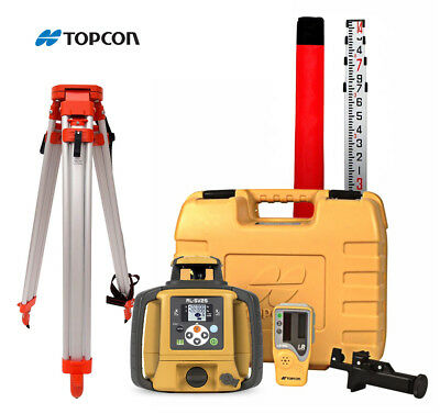 Topcon RL-SV2S High Accuracy Dual Slope Laser, Alkaline Battery, Tripod 16' Rod