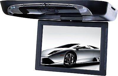 Tview T1591DVFD-BK 15-Inch Flip Down Monitor with Built in DVD Player (Black)