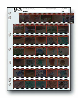 PrintFile Archival 35mm Negative Film Storage Pages 35-7B Pk-25