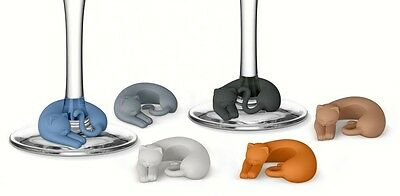 Wine Lives. Kitty, Kitten, Cat Wine Markers, Charms