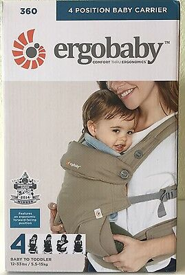 Ergobaby Four Position 360 Baby Carrier Ergo Moonstone BRAND NEW 2016 AUTHENTIC