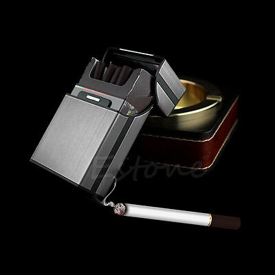 New Black Aluminum Metal Cigar Pocket Cigarette Tobacco Storage Case Box Holder