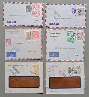 SIRIA. SYRIE. Sei air mail covers 1963-64 for Italy. Buona conservazione.