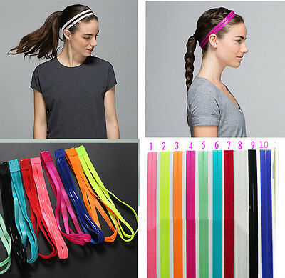 10 Colors DoubleSports Elastic Headband Yoga Hairband Anti-Slip Hair Accessories