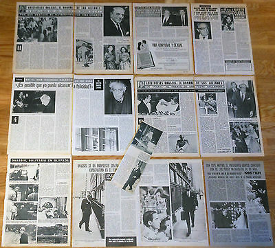 ARISTOTELES ONASSIS clippings 1960s/1970s jackie kennedy maria callas magazine