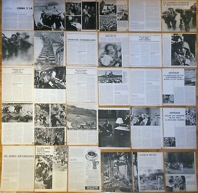 VIETNAM WAR spanish articles 1960s magazine photos clippings