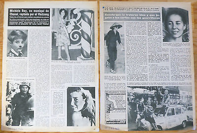 MICHÈLE RAY-GAVRAS 2x 1967 spanish articles photos clippings Vietnam Viet Cong