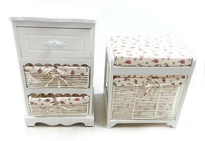White 3 Chest of Draws Hallway Bedside Dressing Table Stool Pouffe Storage Unit