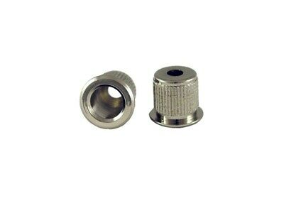 """NEW - Vintage Style String Ferrules (4) For Bass, 1/2"""" - NICKEL"""