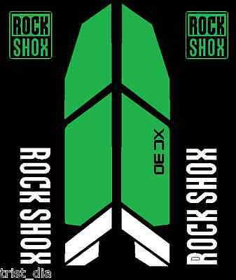 Rock Shox XC 30 Replacement Color Matched Decal Kit