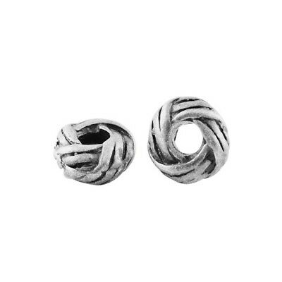 Packet of 30 x Antique Silver Tibetan 3 x 6mm Donut Spacer Beads HA15300