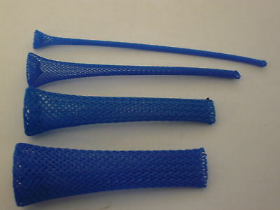 1/8 BRAIDED EXPANDABLE SLEEVING -NEON BLUE-   TECHFLEX 25ft